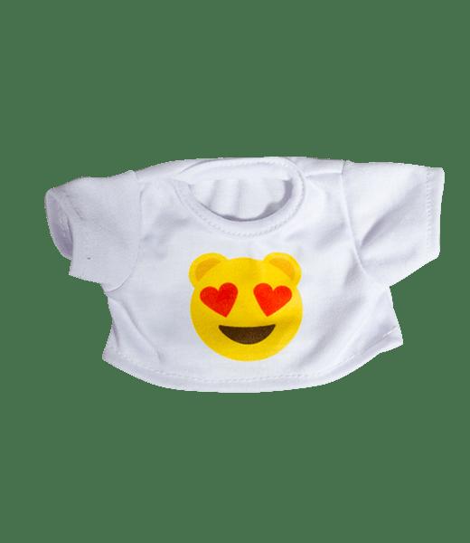 Emoji T-Shirt Verliefd, Teddybeer, Knuffelbeer, Knuffelbeest, Knuffeldier, Knuffeltje, Teddybear, DIYKNUFFEL, DIY-KNUFFEL, Knuffel-Maken, Knuffelmaken, Zelf-Knuffel-Maken, Knuffelwinkel, knuffelstore, knuffelshop, onlineknuffelwinkel, online-Knuffelwinkel, webwinkel, webshop, online, Make-your-Teddy, Build, Bear, Teddybear, Teddy-Mountain,