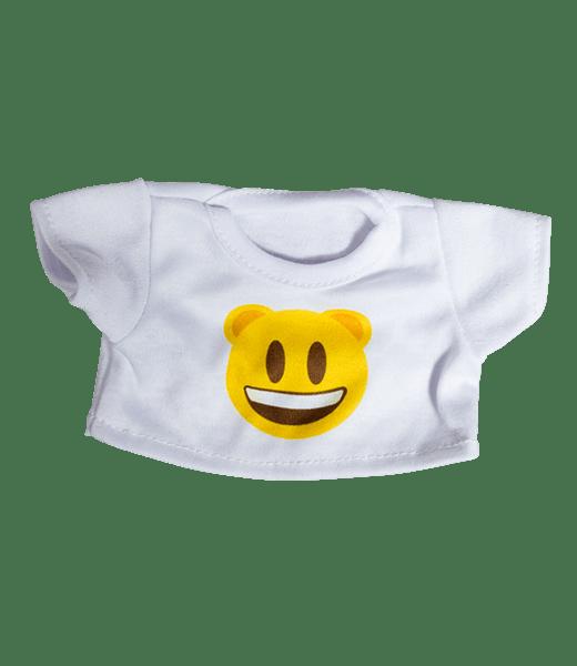 Emoji Glimlach T-Shirt, Teddybeer, Knuffelbeer, Knuffelbeest, Knuffeldier, Knuffeltje, Teddybear, DIYKNUFFEL, DIY-KNUFFEL, Knuffel-Maken, Knuffelmaken, Zelf-Knuffel-Maken, Knuffelwinkel, knuffelstore, knuffelshop, onlineknuffelwinkel, online-Knuffelwinkel, webwinkel, webshop, online, Make-your-Teddy, Build, Bear, Teddybear, Teddy-Mountain,