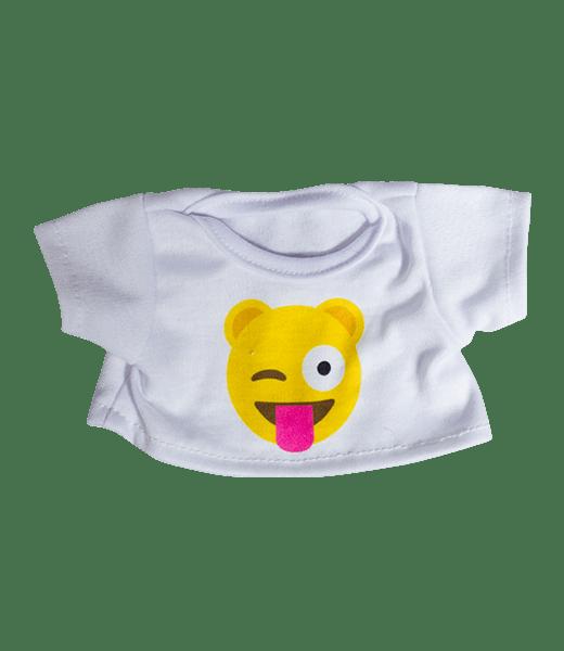 Emoji T-Shirt Gek, Teddybeer, Knuffelbeer, Knuffelbeest, Knuffeldier, Knuffeltje, Teddybear, DIYKNUFFEL, DIY-KNUFFEL, Knuffel-Maken, Knuffelmaken, Zelf-Knuffel-Maken, Knuffelwinkel, knuffelstore, knuffelshop, onlineknuffelwinkel, online-Knuffelwinkel, webwinkel, webshop, online, Make-your-Teddy, Build, Bear, Teddybear, Teddy-Mountain,