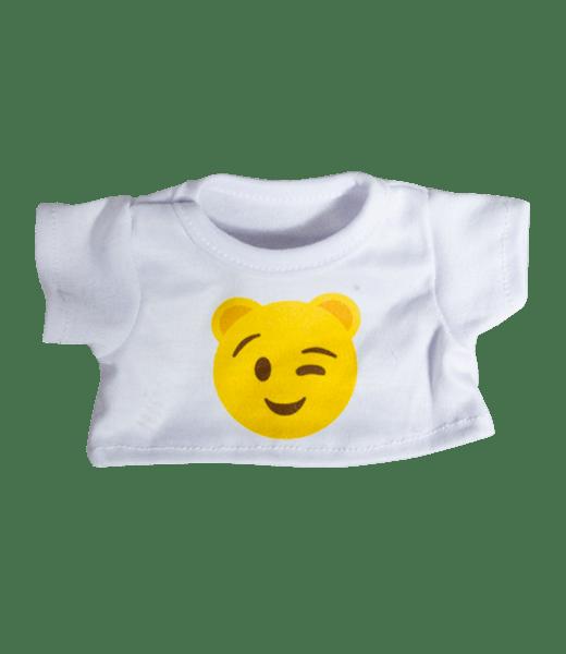 Emoji T-Shirt Knipoog, Teddybeer, Knuffelbeer, Knuffelbeest, Knuffeldier, Knuffeltje, Teddybear, DIYKNUFFEL, DIY-KNUFFEL, Knuffel-Maken, Knuffelmaken, Zelf-Knuffel-Maken, Knuffelwinkel, knuffelstore, knuffelshop, onlineknuffelwinkel, online-Knuffelwinkel, webwinkel, webshop, online, Make-your-Teddy, Build, Bear, Teddybear, Teddy-Mountain,