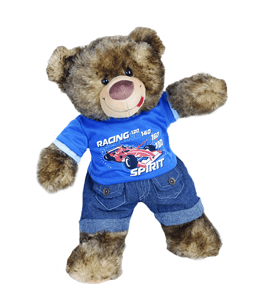 Cool Racecar Outfit 16inch - 40cm toffe outfit voor je knuffel