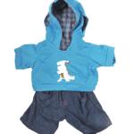 Dinosaurus Outfit 16inch - 40cm kei stoere outfit voor je Teddybeer