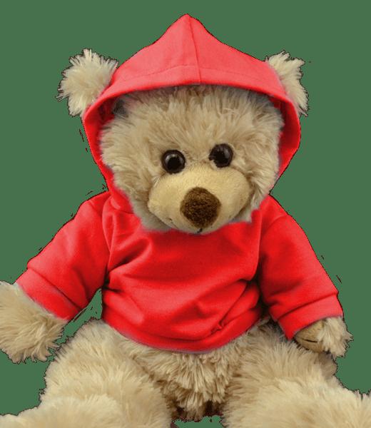 Red Hoodie Tee 16inch - 40cm stoere hoody voor je knuffel vriend