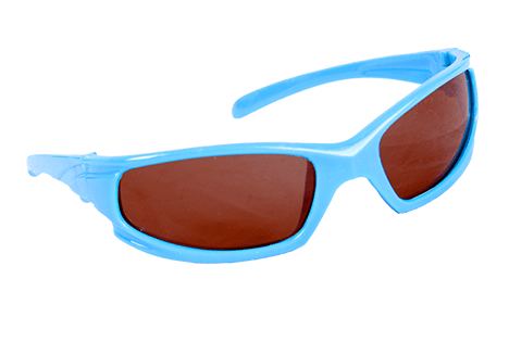 """Seek Zonnebril Blauw 16"""" - 40cm stoer voor je knuffelbeest!"""