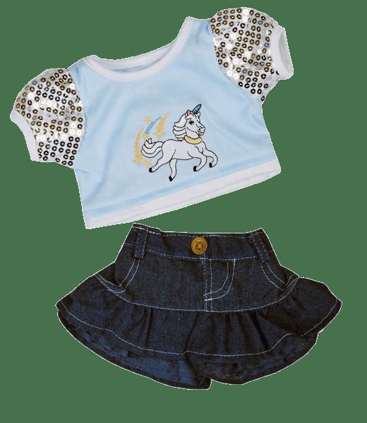 Unicorn Eenhoorn Outfit Glitter 16 inch - 40cm