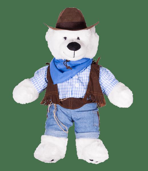 Cowboy met bruine cowboyhoed | Knuffel Outfit | Knuffelbeer | Knuffelbeest | Teddybeer | Teddy Mountain | Make Your Teddy | Helmond