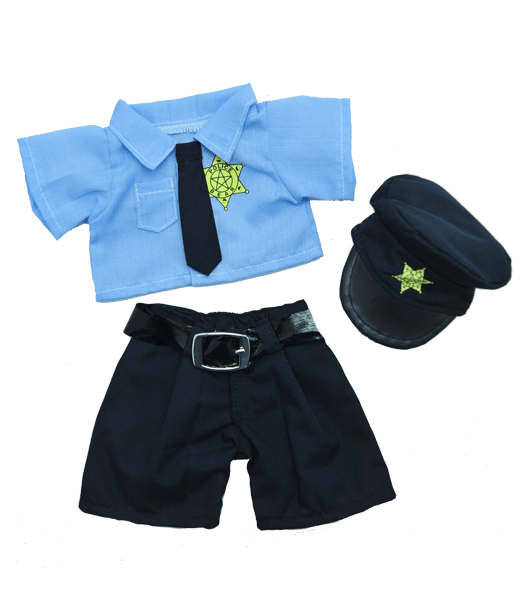 Politie Agent Outfit | Kleding voor knuffels | Personaliseer | Knuffelbeer | Knuffelbeest | Teddybeer | Teddy Mountain | Make Your Teddy | Helmond