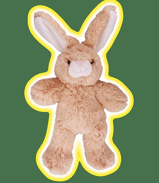 Flopsy het bruin knuffel konijntje, zelf knuffels maken @ makeyourteddy.nl