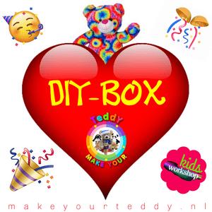 DIY-Box, Teddybeer, Knuffelbeer, Knuffelbeest, Knuffeldier, DIYKNUFFEL, DIY-KNUFFEL, Knuffel-Maken, Knuffelmaken, Zelf-Knuffel-Maken, Knuffelwinkel, knuffelstore, knuffelshop, onlineknuffelwinkel, online-Knuffelwinkel, Make-your-Teddy, Teddy-Mountain,