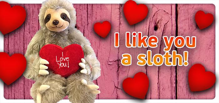 I like you a sloth, Teddybeer, Knuffelbeer, Knuffelbeest, Knuffeldier, DIYKNUFFEL, DIY-KNUFFEL, Knuffel-Maken, Knuffelmaken, Zelf-Knuffel-Maken, Knuffelwinkel, knuffelstore, knuffelshop, onlineknuffelwinkel, online-Knuffelwinkel, Make-your-Teddy, Teddy-Mountain,