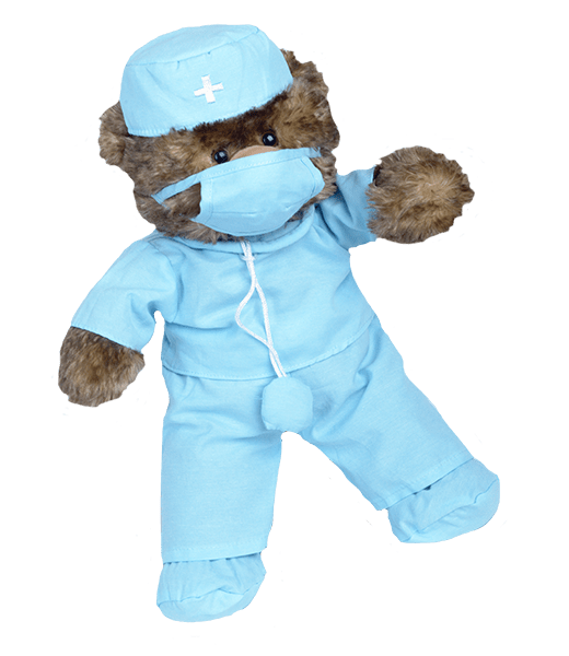 Dokter Scrubs Outfit 16 inch, , Teddybeer, Knuffelbeer, Knuffelbeest, Knuffeldier, DIYKNUFFEL, DIY-KNUFFEL, Knuffel-Maken, Knuffelmaken, Zelf-Knuffel-Maken, Knuffelwinkel, knuffelstore, knuffelshop, onlineknuffelwinkel, online-Knuffelwinkel, Make-your-Teddy, Teddy-Mountain,