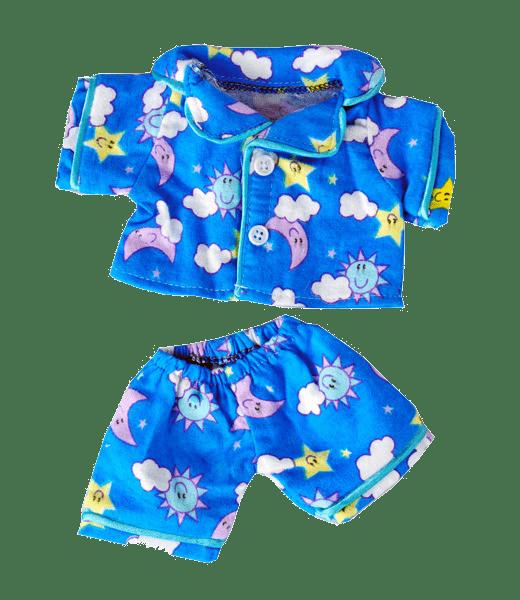 Sunny Days Blue Pyjama Outfit, Teddybeer, Knuffelbeer, Knuffelbeest, Knuffeldier, Knuffeltje, Teddybear, DIYKNUFFEL, DIY-KNUFFEL, Knuffel-Maken, Knuffelmaken, Zelf-Knuffel-Maken, Knuffelwinkel, knuffelstore, knuffelshop, onlineknuffelwinkel, online-Knuffelwinkel, webwinkel, webshop, online, Make-your-Teddy, Build, Bear, Teddybear, Teddy-Mountain,