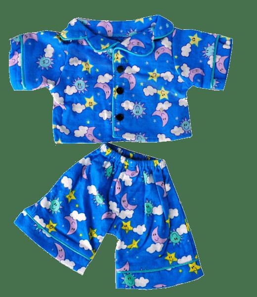 Sunny Days Blauw Pyjama, Teddybeer, Knuffelbeer, Knuffelbeest, Knuffeldier, Knuffeltje, Teddybear, DIYKNUFFEL, DIY-KNUFFEL, Knuffel-Maken, Knuffelmaken, Zelf-Knuffel-Maken, Knuffelwinkel, knuffelstore, knuffelshop, onlineknuffelwinkel, online-Knuffelwinkel, webwinkel, webshop, online, Make-your-Teddy, Build, Bear, Teddybear, Teddy-Mountain,