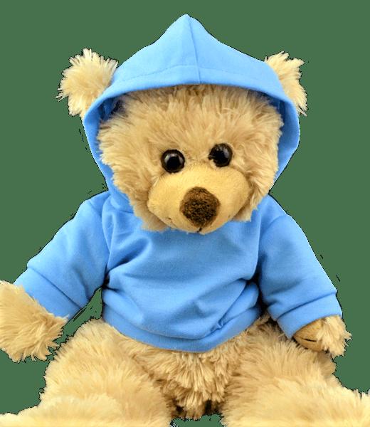 Licht Blauwe Hoodie, Teddybeer, Knuffelbeer, Knuffelbeest, Knuffeldier, Knuffeltje, Teddybear, DIYKNUFFEL, DIY-KNUFFEL, Knuffel-Maken, Knuffelmaken, KNUFFEL MAKEN, Zelf-Knuffel-Maken, Knuffelwinkel, knuffelstore, knuffelshop, online knuffelwinkel, online-Knuffelwinkel, webwinkel, webshop, online, Cadeau, Geschenk, Gift, Kado, Kids, Kinderen, Kinderfeest, Kidsworkshop, Kidsparty, Kinder, Kids, Kindercadeau, Workshop, Make-your-Teddy, Build, Bear, Teddybear, Teddy-Mountain,